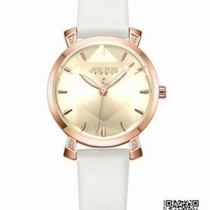 นาฬิกา Julius JA-1158 สายหนัง หน้าปัดกระจกเหลี่ยม สีขาว ของแท้ ส่งฟรี มีบริการเก็บเงินปลายทาง