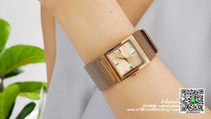 นาฬิกา Julius JA 841 หน้าปัดเหลี่ยม ผู้หญิง สีน้ำตาล รุ่นแนะนำ ของแท้ส่งฟรี มีบริการเก็บเงินปลายทาง