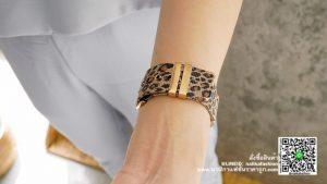 นาฬิกา Julius JA 841 หน้าปัดเหลี่ยม ผู้หญิง ลายเสือ สีน้ำตาล รุ่นแนะนำ ของแท้ส่งฟรี มีบริการเก็บเงินปลายทาง