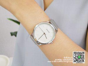 นาฬิกา Julius JA-982 สายสแตนเลส ผู้หญิง รุ่นขายดี สีเงิน มีบริการเก็บเงินปลายทาง