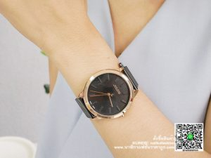 นาฬิกา Julius JA-982 สายสแตนเลส ผู้หญิง รุ่นขายดี สีดำ-พิ้งโกล มีบริการเก็บเงินปลายทาง