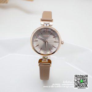 นาฬิกา Julius JA-1119 สายหนัง สีครีม ของแท้ ราคาเบา ๆ ส่งฟรี มีบริการเก็บเงินปลายทาง