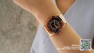 นาฬิกา Julius JA-931 หน้าปัดเหลี่ยม ผู้หญิง รุ่นขายดี สีพิ้งโกล ส่งฟรี มีบริการเก็บเงินปลายทาง