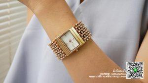 นาฬิกา Julius JA 435 หน้าปัดเหลี่ยม ผู้หญิง สายเก๋ ๆ สีพิ้งโกล สวยมาก ๆ รุ่นแนะนำ ของแท้ส่งฟรี มีบริการเก็บเงินปลายทาง