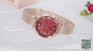 นาฬิกา Julius JA-1210 รุ่นใหม่ล่าสุด สีพิ้งโกล-แดง ดูดีมาก ๆ ของแท้ รับประกัน 1 ปี