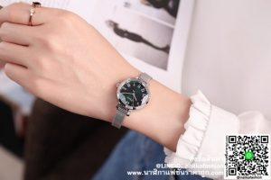 นาฬิกา Julius JA-1019 สีเงิน หน้าปัดทรงกลม น่ารักมาก ๆ ส่งฟรี
